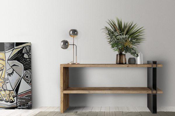 The Scandinavian interior design of the living room with mock-up poster-frame, furniture and home decoration, 3d render, 3d illustration